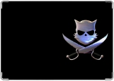 Обложка на автодокументы с уголками, Котэ-пират