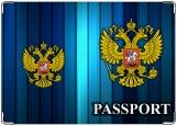 Обложка на паспорт с уголками, PASSPORT