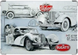 Обложка на автодокументы с уголками, Ретро автомобили