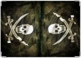Обложка на паспорт с уголками, Флаг пиратов