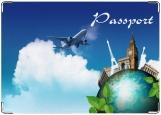 Обложка на паспорт с уголками, Загранпаспорт