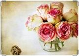 Обложка на паспорт с уголками, Букет роз