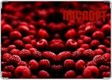 Обложка на паспорт с уголками, Малина + Кровь