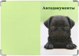 Обложка на автодокументы с уголками, собачка