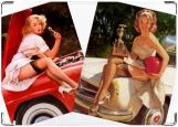 Обложка на автодокументы с уголками, Пинап 4. Девочки