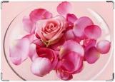Обложка на паспорт с уголками, Лепестки роз
