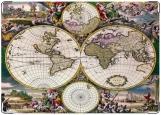 Обложка на паспорт с уголками, Старинная карта