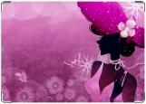 Обложка на паспорт с уголками, Мадам в розовом