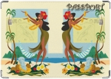 Обложка на паспорт с уголками, гаваи