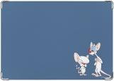 Обложка на паспорт с уголками, Пинки и Брэйн