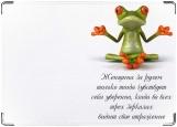 Обложка на автодокументы с уголками, лягушка царевна
