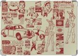 Обложка на автодокументы с уголками, ретро коллекция
