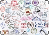 Обложка на паспорт с уголками, Visas