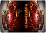 Обложка на автодокументы с уголками, огонь 2