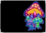 Обложка на автодокументы с уголками, 6 грибов