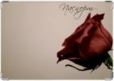Обложка на паспорт с уголками, Роза