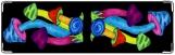 Визитница/Картхолдер, рисованые грибы