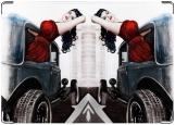 Обложка на автодокументы с уголками, Pin-up girl