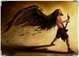 Обложка на автодокументы с уголками, Ангел рока