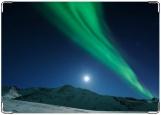 Обложка на паспорт с уголками, Северное сияние на Аляске